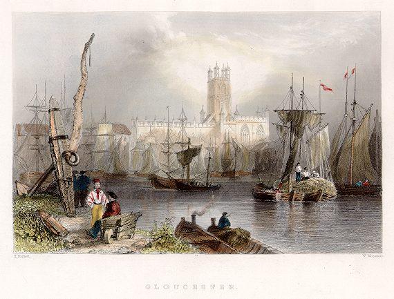 Gloucester Docks, 1842 (ancestryimages.com)